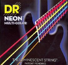 DR NEON NMCB6-30 Neon Multi Luminescent/Fluorescent 6 Bass Guitar Strings 30-125